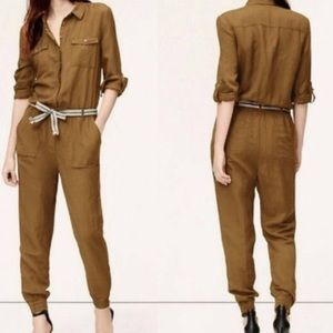 LOFT ANN TAYLOR • CARGO MILITARY POCKET JUMPSUIT